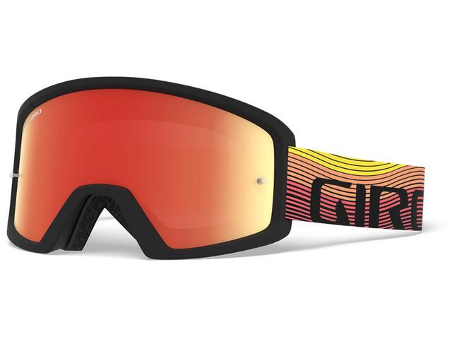 Giro Blok MTB Goggles orange/black heatwave, amber/clear